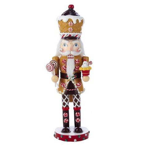 I may have to buy this one.  Kurt Adler Wooden Gingerbread Nutcracker