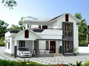 Orange Themed Home Designed In 1680 Sq Ft Mastihomes House Roof Design Bungalow House Design Kerala House Design