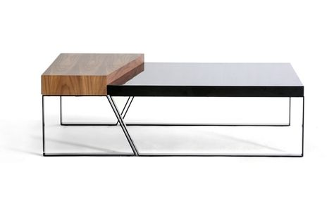 Baxton Studio Divyde 2 Piece Wooden Modern Coffee Table | Occasional Tables  | Pinterest | Modern Coffee Tables, Clever Design And Coffee