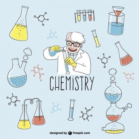 Chemistry Drawings Free Vector | การทดลองวิทยาศาสตร์, พันธะเคมี ...