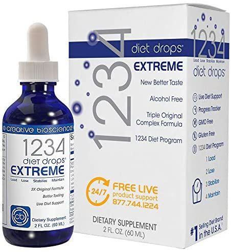 Creative Bioscience 1234 Diet Drops Extreme For Women Men Diet Drops For Weight Management Keto Diet Drops 2 Fl Oz In 2020 1234 Diet Drops Diet Drops Diet