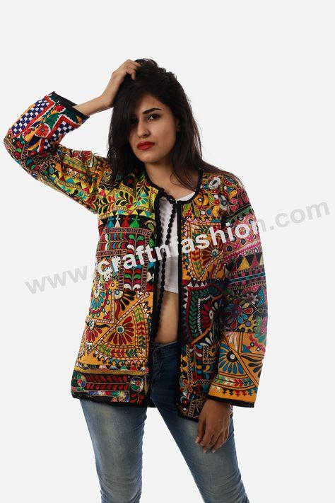 Handmade Colorful Mirror Work Jacket - Dandiya Wear