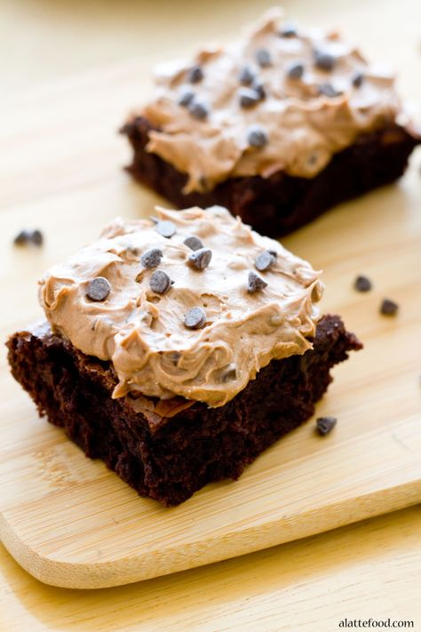 After just a couple of weeks of half-assed dieting, I almost cried when I saw these Mocha Chip Brownies from A Latte Food's delicious blog.  Easy to make (the brownies are made from a doctored-up mix), they might be the perfect cure for the blues. ~~  Houston Foodlovers Book Club