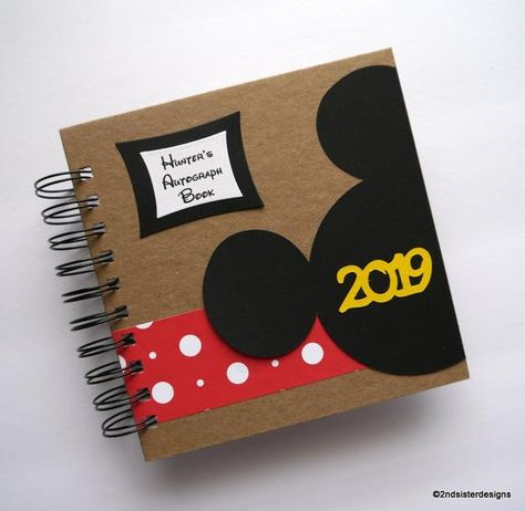 Custom personalized Disney autograph book - its a scrapbook for your photos too! A lasting keepsake to preserve the memories from one of your best vacations! *Plastic cover protector to safeguard against fingerprints, smudges etc. *Double sided pocket page to hold tickets, maps and other thin