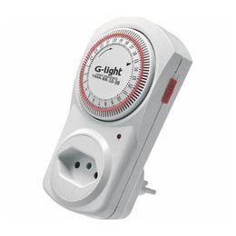 Timer Analogico Branco 10a Autovolt G Light Seguranca Do Lar Temporizador Para Chuveiro Temporizador Digital
