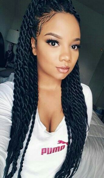 92 Wonderful Black Braided Hairstyles That Turn Heads In 2020 In 2020 Twist Braid Hairstyles Crochet Braids Hairstyles Braided Ponytail Hairstyles