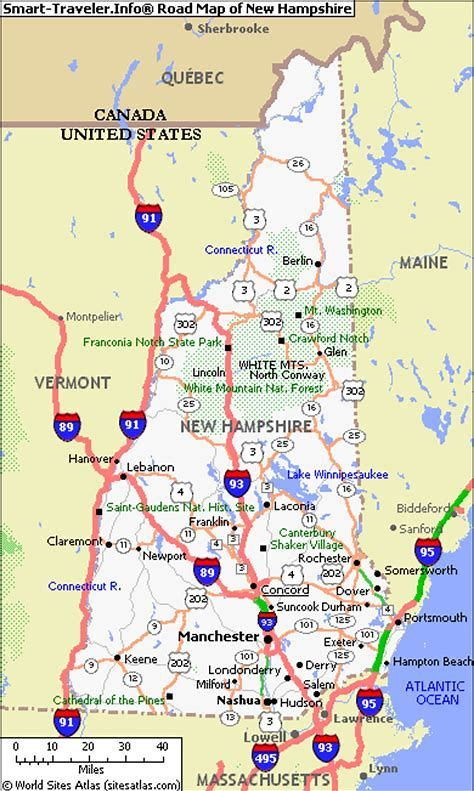 Image result for Map of NH and Maine driving routes | Vacation ...