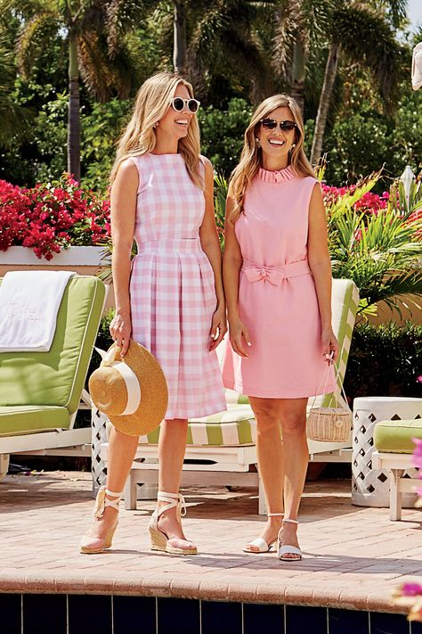 We're Loving Sunshine State Style, Beach Outfits, Pink Summer Style Via Palm Beach Lately. Preppy Summer Outfits, Preppy Dresses, Preppy Girl, Preppy Style, Cute Outfits, Preppy Fashion, Casual Summer, Beach Outfits, Pink Style