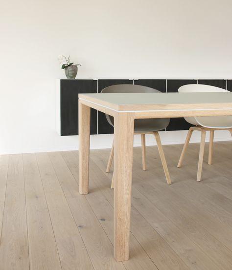 Tisch Esstisch Schreibtisch R10 Eiche Massivholz Linoleuem