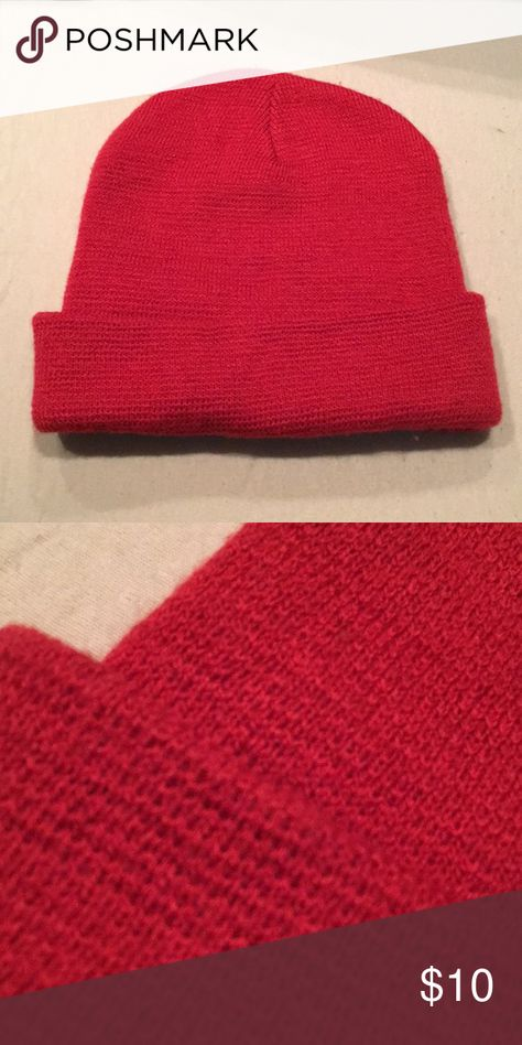 a019bdd4b60 Red Knit Beanie Red knit beanie from Target