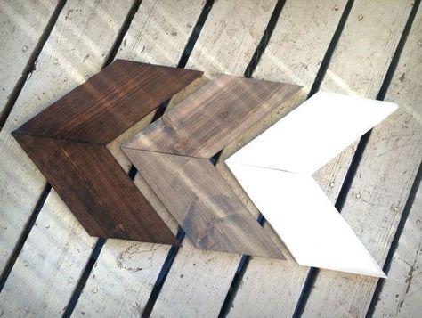 Rustic Wooden Arrow Set, Set of Three Chevron Arrows, Wood Arrow Signs, Woodland Nursery Decor, Rustic Home Decor, Rustic Nursery Decor  Each