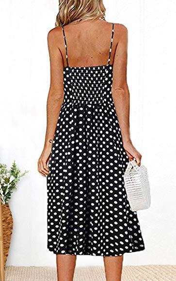 Women/'s Dress Summer Bohemian Spaghetti Strap Swing Floral Mini Midi Dress