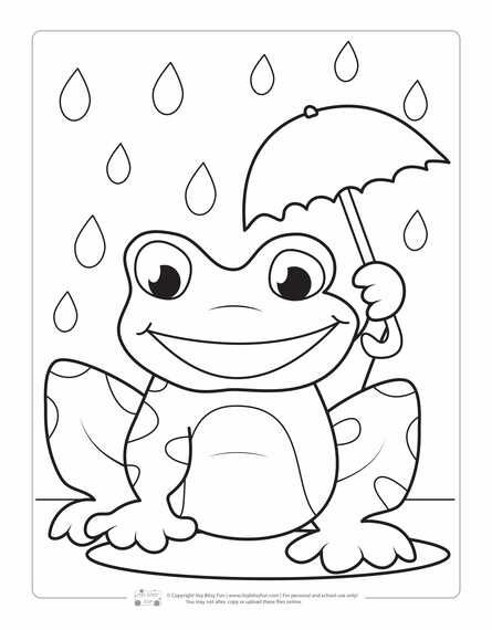 Spring Coloring Pages For Kids Spring Coloring Pages Frog
