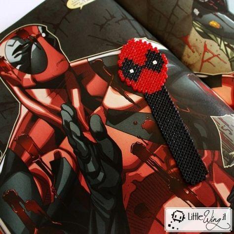 Deadpool - segnalibro Pixel #craft #bookmark #art #book #books #comics #marvel #nerd #geek