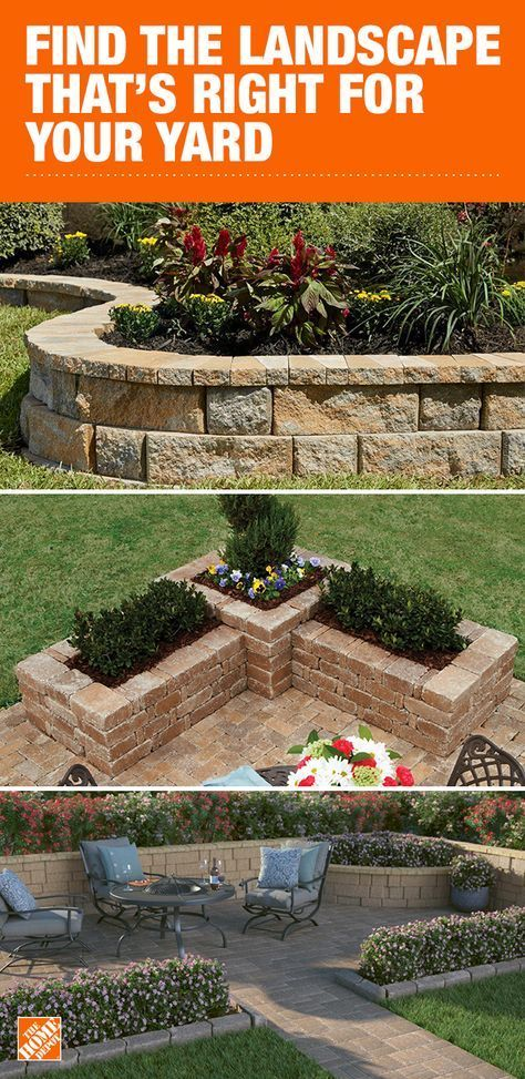 Choose From The Taverna Rumblestone And Rockwall Series To Build The Outdoor Oasis You Ve Always Wanted Backyard Landscaping Landscape Design Home Landscaping