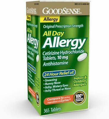 Ad Goodsense All Day Allergy Cetirizine Hcl Tablets 10 Mg Antihistamine In 2020 Allergy Relief Allergies Best Otc Allergy Medicine