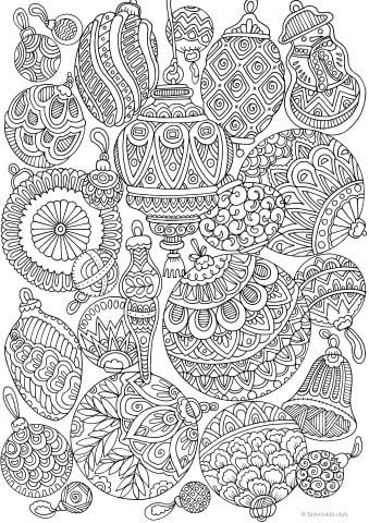 Christmas Decorations Favoreads Coloring Club Coloring Pages Adult Coloring Pages Christmas Coloring Pages