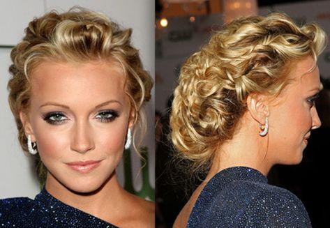 l'acconciatura di chignon per i capelli ricci 2014