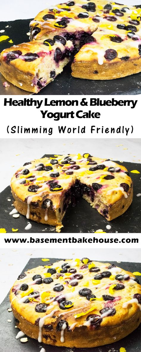 This mouthwatering Healthy Lemon & Blueberry Yogurt Cake is packed with healthy flavours, high nutrition ingredients and lots of flavour. It's the perfect Slimming World friendly dessert, made with St Helen's Farm goats milk yogurt. Perfect for breakfast, as a snack or for tea with friends!