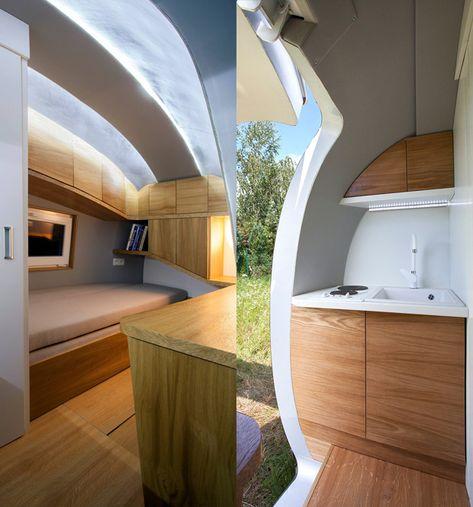 Conheça a minicasa compacta, com sistema totalmente autossustentável, apelidada de Ecocapsule, que acomoda duas pessoas e pode ser levada a qualquer lugar.