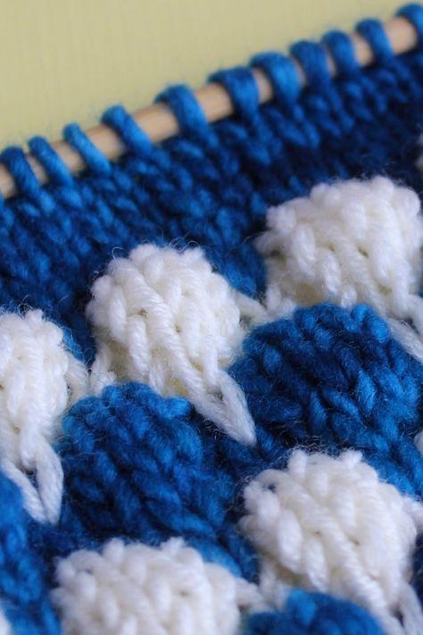 Knit the Bubble Stitch Pattern