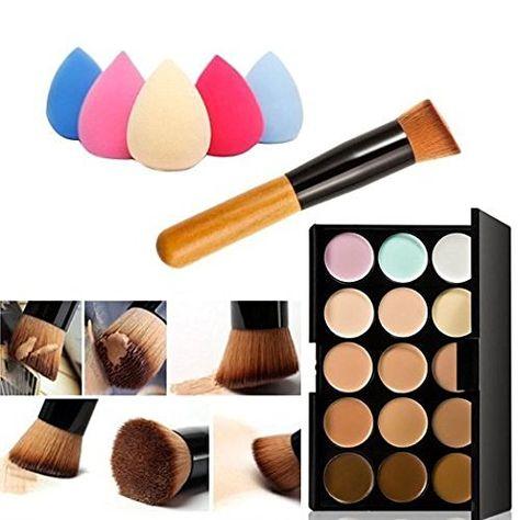 Olym Store 15 Farbe Professionelle Concealer Tarnung-Verfassungs-Paletten-Form-Gesichts-Contouring-Kit + schrägem Kopf Contour Make-up Pinsel mit freien Make-up Schwamm Blender (Wassertropfen ), http://www.amazon.de/dp/B01FHP59GM/ref=cm_sw_r_pi_awdl_x_z1DXxbZYNGWNK
