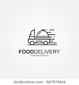 Food Delivery Truck Logo Template Fast Delivery Truck Healthy
