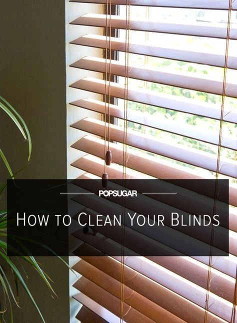 How to Clean (Even the Grimiest) Faux Wood Blinds | Household, Clean clean  and Cleaning blinds