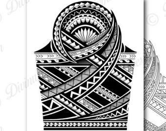 Polynesian Compass Rose Quarter Sleeve Tattoo Tattoo Design Etsy Quarter Sleeve Tattoos Polynesian Tattoo Designs Polynesian Tattoo