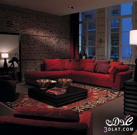 كنب مودرن 2020 الوان كنب ناعمة 2020 روعة Red Sofa Living Room Red Rooms Home Goods Decor