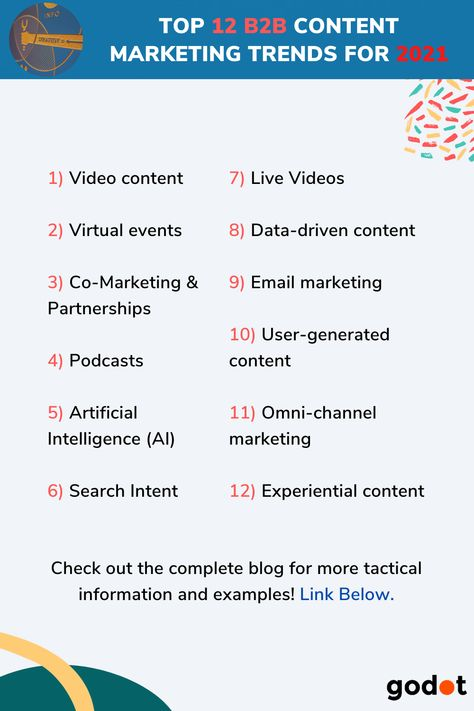 Top 12 B2B Content Marketing Trends For 2021