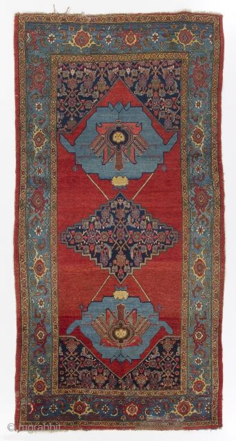 Ntique Persian Bidjar Rug As Found 5 X 10 Ft 153x300 Cm Rugrabbit Ibrahim Tekin Antique Persian Rug Antique Textiles Colorful Rugs