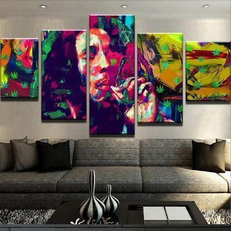 BOB MARLEY POP ART CANVAS PRINT PICTURE WALL ART VARIETY OF SIZES FREE P/&P