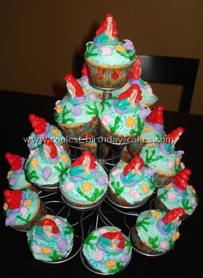 mermaid cakes Beautiful Happy Birthday Little Mermaid Birthday