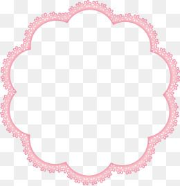 Pink Flower Annular Border Flower Clipart Frame Pink Border Png And Vector With Transparent Background For Free Download Flower Clipart Flower Stationary Clip Art
