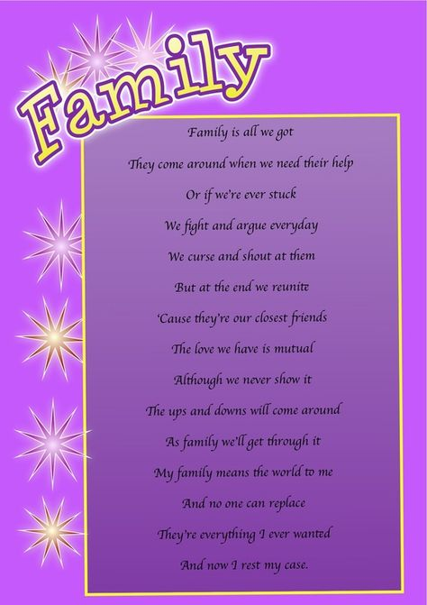 poetry about family love