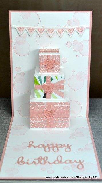 Birthday Parcels Pop Up Card Video Janb Cards Pop Up Card Templates Birthday Card Pop Up Diy Pop Up Cards