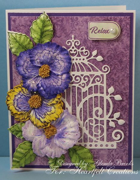 Heartfelt Creations Cling Rubber Stamp Set-cheery Pansy