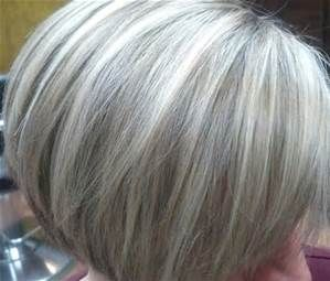 Short Gray Hair With Blonde Highlights Pictures Bing Images Gray Hair Highlights Hair Highlights And Lowlights Grey Hair Color