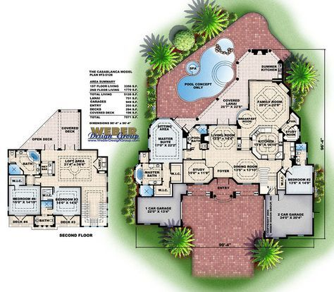 Mediterranean House Plan Island Style Mediterranean Home Floor Plan Mediterranean House Plan House Plans Mediterranean Homes