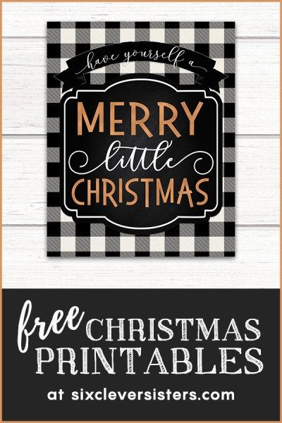 Free Christmas Printables Buffalo Plaid Check Six Clever Sisters Free Christmas Printables Buffalo Check Christmas Burlap Christmas