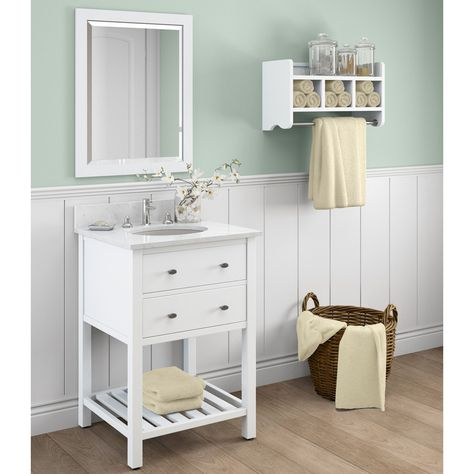 alaterre harrison marble sink white 24 in bathroom vanity with rh pinterest co uk