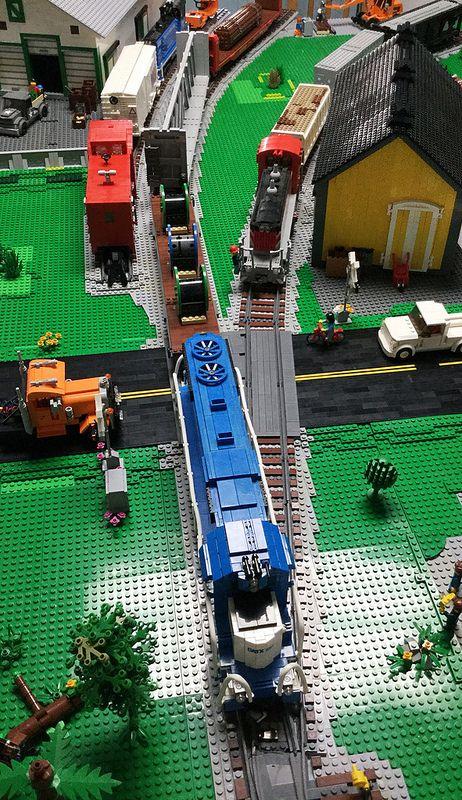 Van Buren Yard Update Lego City Train Lego Factory Lego Trains