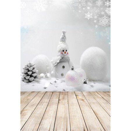 7X5FT-210X150CM HD Snowman Christmas Balls Winter Fir Branch Snowflake Vinyl Photo Background Photography Backdrop Birthday Party Banner Decor Portrait Photographic Photo Booth Studio Props
