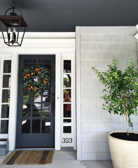 Just finished this install and I'm in love with how the front porch came together.  || www.studio-mcgee.com