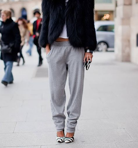 """""""Going out"""" sweatpants?! Not under our watch! Tune in for tips on upgrading your style!"""