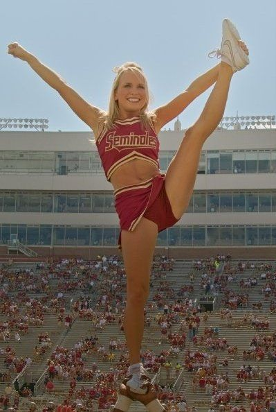 Cheerleaders fun hot blonde teen