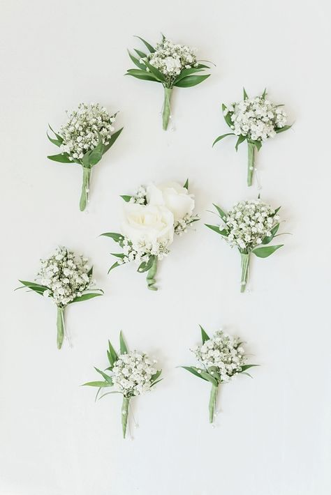 White baby's breath wedding boutonnieres for rustic wedding - Floral Inspiration., bouquets babys breath White baby's breath wedding boutonnieres for rustic wedding - Floral Inspiration. Babys Breath Boutonniere, White Boutonniere, Groom Boutonniere, Rustic Wedding Boutonniere, Babies Breath Bouquet, Boutonnieres, Baby's Breath Wedding Bouquet, Babys Breath Wreath, Groomsmen