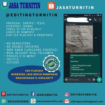 Jasa Cek Plagiarisme Turnitin Di Kalimantan Selatan Kepulauan Tesi Mahasiswa Will Detect Paraphrasing
