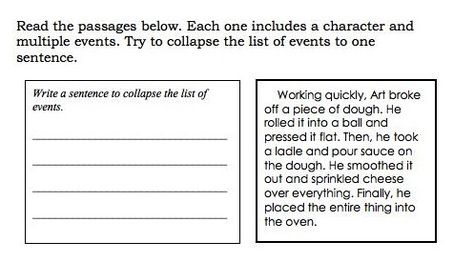 Blog post Summarizing Chronological Order Text Reading - example of chronological order